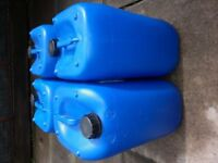 x4 blue 25ltr containers