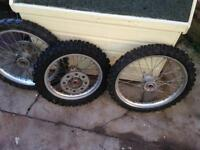 Suzuki rm85 small wheels & swingarm