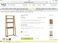 M&S Sapporo desk and shelving unit, 2nd hand, good condition. Made from solid bamboo + bamboo veener
