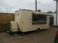 14ft Catering Trailer, 4 burner griddle, 6 pan bain marie, 2 fridges, Potato Oven, panini machine