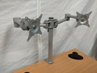 Desk Mounted Double Monitor Arm