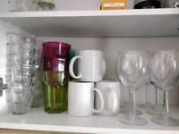 Cups/glasses, wine glasses pick up Newington Green