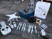 DJI Phantom 4 drone with extras