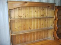 SOLID PINE ORNATE 'WELSH DRESSER' TOP . VIEWING / DELIVERY AVAILABLE