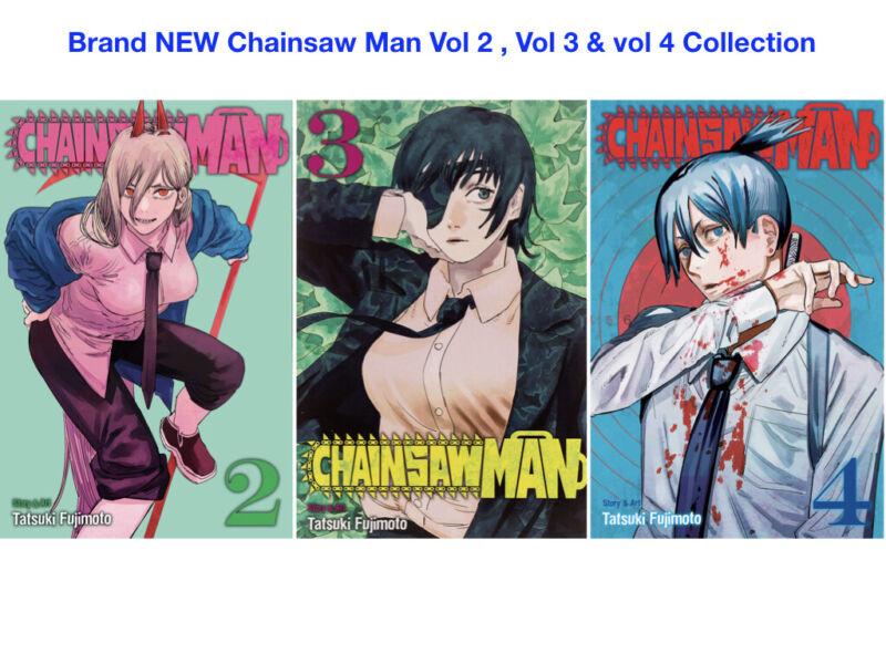 Brand NEW Chainsaw Man MANGA Vol 2, Vol 3 & Vol 4 Bundle