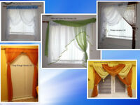 Net curtains White Green Blue Orange Yellow Brown from £8 each