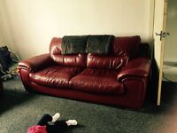 Leather suite sale or swap good condition
