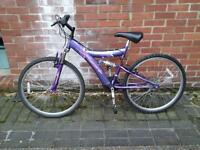 ladies / girls full suspension bike