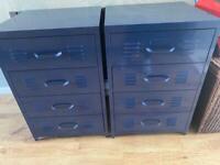 Kids Next bedroom metal locker wardrobe & 2xchest of drawers