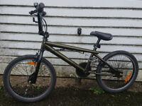 "schwinn powermatic bmx bike 20"" wheel army green with gyro"