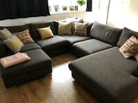 HUGE 3 piece corner sofa - GOOD AS NEW