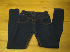 GIRL NEXT BLUE SKINNY JEANS - AGE 9 - EXC COND - ONLY WORN A COUPLE OF TIMES