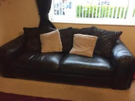 Italian leather sofas hand made BARGAIN £500 ono