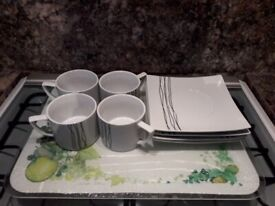 Waterside 4 cups and saucers for sale