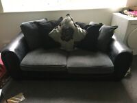 Black and grey cloth sofa