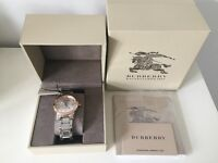 BRAND NEW BOXED AUTHENTIC BURBERRY MENS THE CITY WATCH BU9006 **RRP £395** PERFECT GIFT