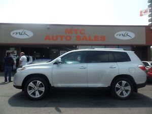 2013 Toyota Highlander V6 Limited, LEATHER, BACKUP CAM, NAV, KM: