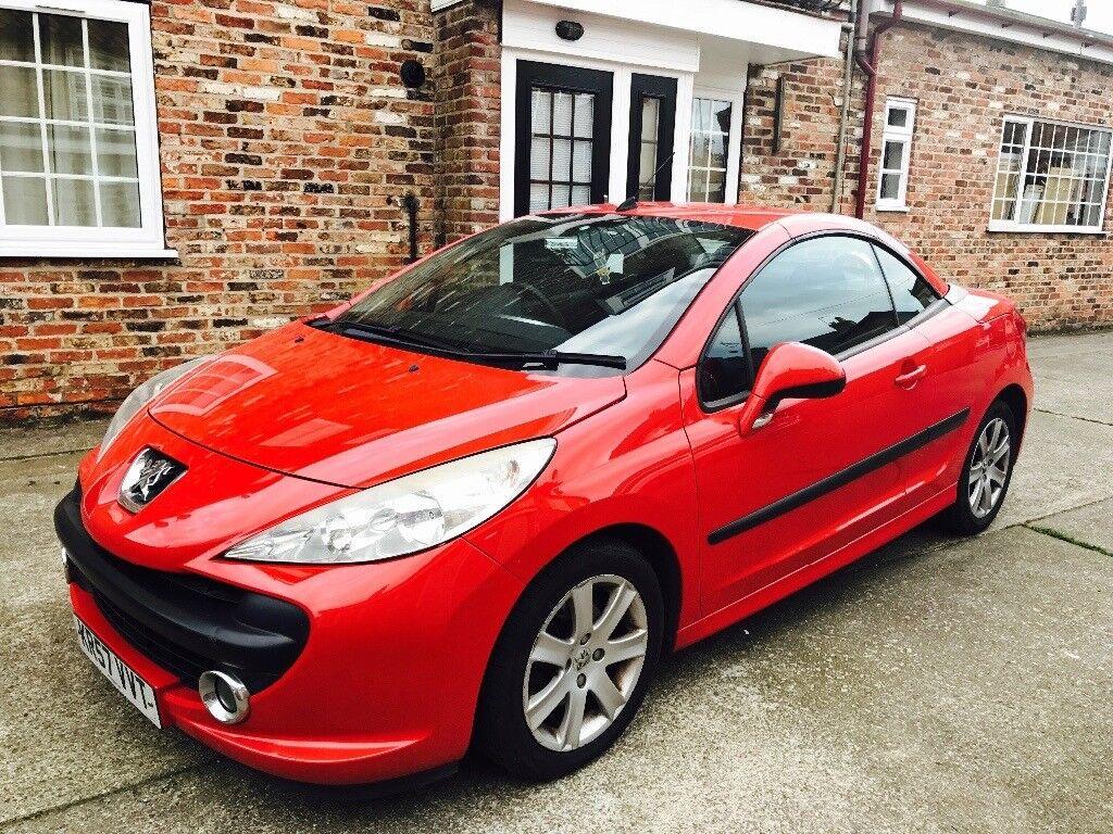 Peugeot 207 cc sport 2007 57 reg 1.6 Coupe Red