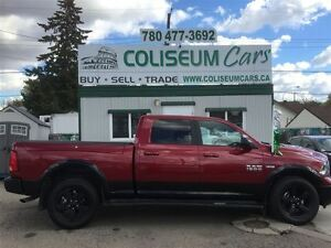2015 Dodge Ram 1500 SLT, OUTDOORSMEN, LEATHER, LOADED, 4X4, 30KM
