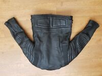Motor Cylce Jacket Leather, Size 14, Very Good Condition