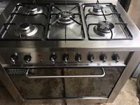 INDESIT DUAL FUEL GAS COOKING RANGE 90cm WIDE OVEN WITH GRILL FREE DELIVERY AND WARRANTY
