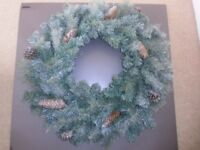 JOHN LEWIS PINE CORN SNOW DUSTED CHRISTMAS WREATH