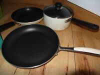 Debenhams Home Collection Big Frying Pans 28cmx2 and Deep Saucepan 20cm x1