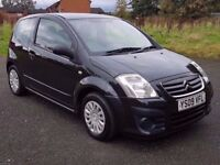2009 CITROEN C2 1.4 VTR, PETROL, MANUAL, 3 DOOR, SERVICE HISTORY, 1 PREVIOUS KEEPER, DRIVES GREAT!!!