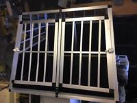 Double door dog crate with dividing wall by TecTake TecTake