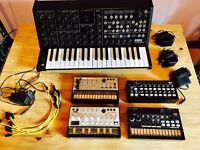 Korg Set: Korg MS-20 Mini, Korg SQ-1, Korg Volca Keys, Volca Bass, Volca Beats