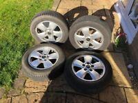 Mini 15 inch Heli alloy wheels & tyres
