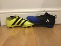 Kids adidas AstroTurf and football boots. See description for information.