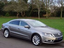 1 OWNER - 2013 Volkswagen CC 2.0 TDI BlueMotion Tech GT DSG 4dr - ONLY 28,000 MILES ONLY -