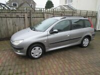 Peugeot 206SW estate 12 month MOT