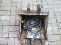 Digger bucket 410 mm wide