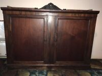 Antique rosewood sideboard.