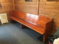 Solid Oak Pew