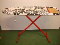 Iron Board with cover for ironing Black & White **can fold down for easy storage after doing laundry
