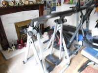 Stepper leg exercising machine