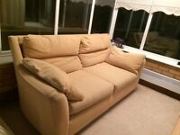 Next beige armchair and 3 seater sofa in good condition.