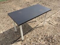Brown Laminate Wood Table with White Legs