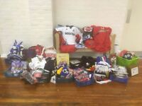 STOCK CLEARANCE!! - great for car booters/market traders: large collection of football/sports items