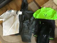 Adidas Messi track suits x 2 and t shirt Age 11-12