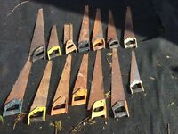 Job lot old saws