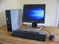 PC System with LCD Monitor, Keyboard, Mouse. Wi-Fi Internet. Dual Core, Win 10. Excellent Condition.