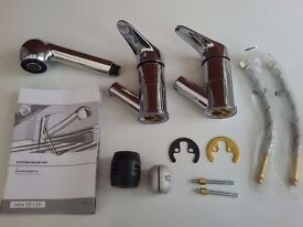 Parts of Single lever Pull Out Spray Kitchen tap mixer