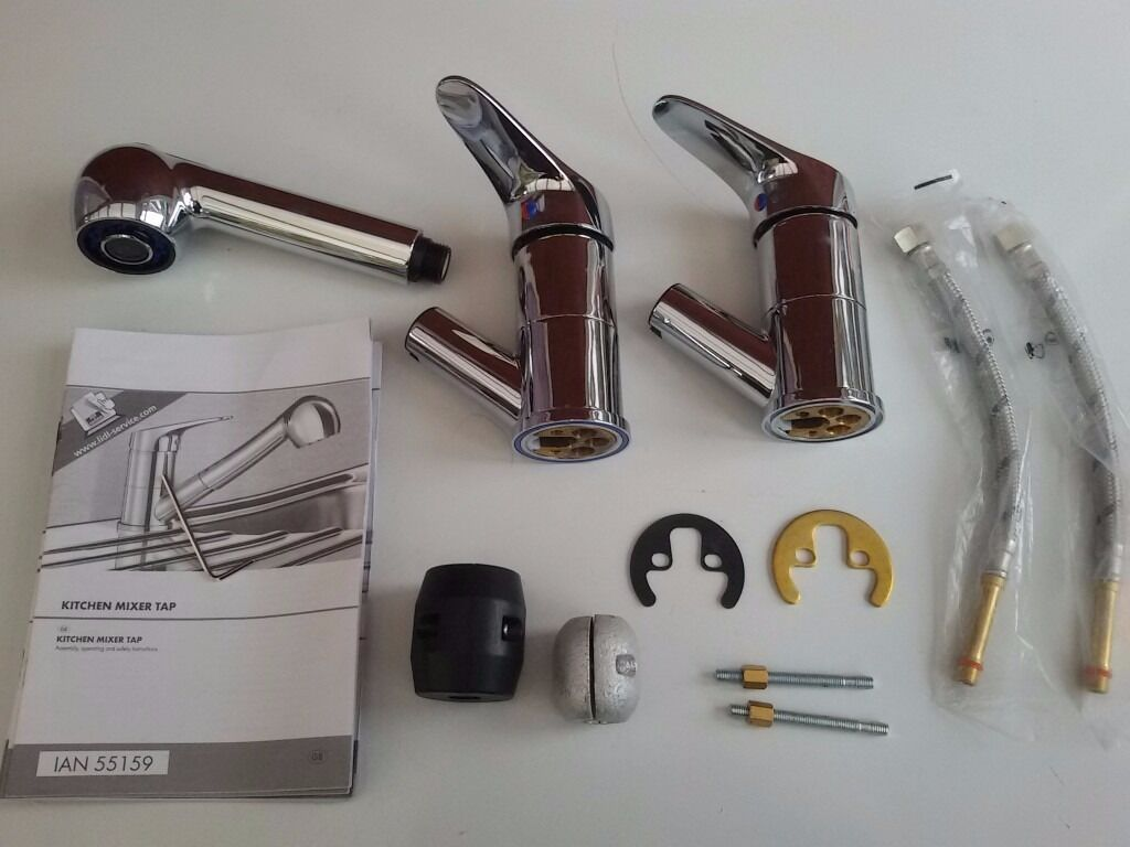 Parts of Single lever Pull Out Spray Kitchen tap mixerin Billericay, EssexGumtree - Unused Kitchen tap mixer, NOT completed set, Chrome steel finish, Pull out tap hose is missing, Good for Spare Replacement, Instructions included. Buyer collection only, £9