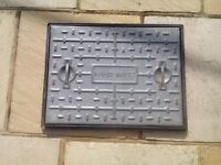 Clark galvanised man hole cover and frame