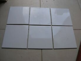 Over 5 M2 White glossy Tiles 150mm by 150mm Weymouth