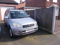 Toyota Rav 4. 2002. Petrol 2 litre All Rav 4 refinements Excellent condition with 12 months MOT